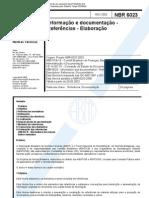NBR 6023 - Informação e documentação - Referências - Elaboração