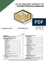 BAS Catalogue No. 822a - September 2014