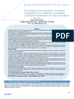 Effective Directorate Management of Sport Education Departments According to (Vision, Mission and Goals) From Viewpoint of the Teaching Staff