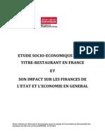 Etude socio-économique sur le titre-restaurant en France