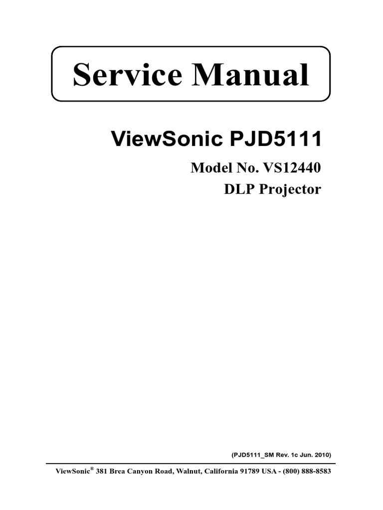 service manual viewsonic pjd5111 electronic engineering rh es scribd com viewsonic pro8200 service manual viewsonic pro8200 service manual