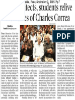 City Architects, Students relive memories of Charles Coreea