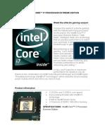 INTEL® CORE™ I7 PROCESSOR EXTREME EDITION