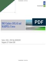 Dnv Updates on Solas & Marpol