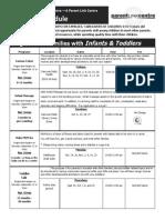 Fall Centre 2015 Schedule