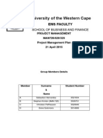 Project Management Plan CAPESKATE Salesian Skate Park Cape Town