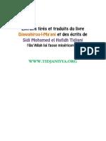 Extraits Tire Et Traduits Du Livre Djawahirou Maani