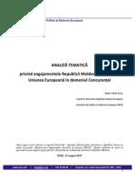 Analiza tematică privind angajamentele Republicii Moldova în raport cu Uniunea Europeană în domeniul Concurenței