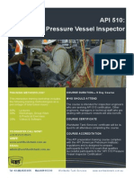 API 510 Authorised Pressure Vessel Inspector