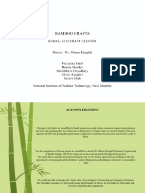 bamboo craft | Indian Cuisine | Nature