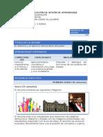 Planificación de Sesión de Aprendizaje