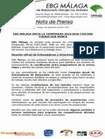 39.- Se Inicia La Temporada 2015-2016 en Ebg Málaga