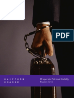 Corporate Criminal Liability (Clifford Chance)