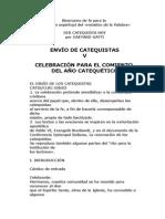 ENVÍO DE CATEQUISTAS, CELEBRACIÓN PARA EL COMIENZO DEL AÑO CATEQUÉTICO_GAETANO GATTI.doc
