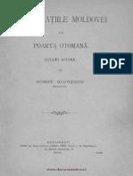 Capitulaţiile Moldovei Cu Poarta Otomană - Studiu Istoric