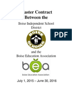 Boise Education Assoication Master Contract for 2015-2016