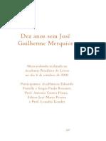 Dez Anos Sem José Guilherme Merquior_2001