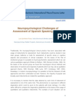 Neuropsychological Challenges of Assessment of Spanish Speaking Patients