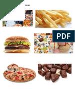 Alimentos Não Saudaveis