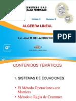 Semana3_Sistema de Ecuaciones Lineales