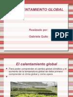 El Calentamiento Global en Diapositiva
