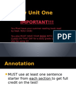 review unit one