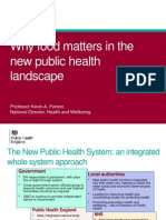 Day 1 Kevin Fenton - food matters in the new public health landscape