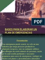 Bases Para Elaborar Un Plan de Emergencias
