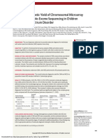 Molecular Diagnostic Yield of Chromosomal Microarray Analysis and Whole-Exome Sequencing in Children With Autism Spectrum Disorder