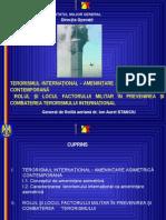 Terorismul Internaţional-Ameninţare Asimetrică Contemporană