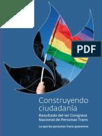 Unión Trans Del Uruguay (UTRU) - Documento de Reivindicaciones Del Primer Encuentro Nacional de Personas Trans en El Uruguay