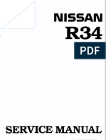 5332929 Nissan Skyline R34 Workshop Manual English
