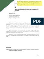 Programa de Trabajo de Fernández Parra para la educadores y padres