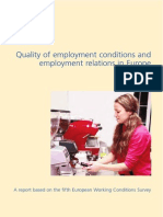 Eurofound - Quality of Employment Conditions and Employment Relations in Europe