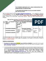 Dena Bank Sale Notice