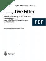 Moschytz, Adaptive Filter. Inhaltsverzeichnis