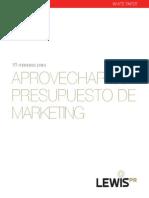 LEWIS 10 Maneras de Aprovechar Su Presupuesto de Marketing