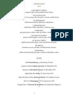 Vaucluse Wine & Cocktail List