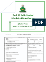 Bank Al Habib Charges Detail