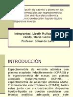 Analisis Plomo y Cabmio
