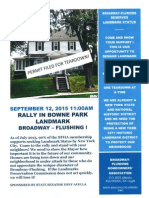 BFHA Landmark Rally Flyer