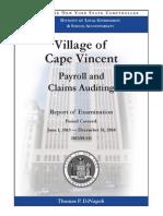 State comptroller's audit of village of Cape Vincent