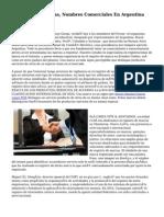 Registros De Marcas, Nombres Comerciales En Argentina