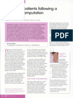 Managing Patients Following a lower limb Amputee