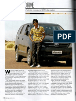 'CAR India' Magazine TOYOTA INNOVA REVIEW by Tirthankar Basu