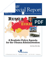Heritage 2009 report on Us policy towards Russia