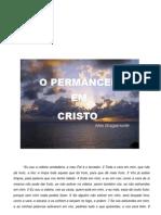 O Permancecer Em Cristo