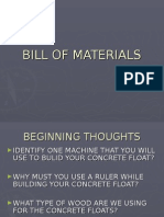 Bill of Materials Unit
