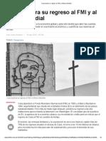 Cuba Explora Su Regreso Al FMI y Al Banco Mundial