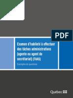 Examen Taches Administratives